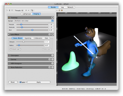 Screenshot of LuxRender in Action