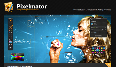 Pixelmator's Website