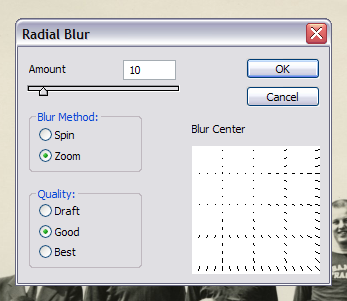 Photoshop 1.0 ... er CS4's radial blur dialog