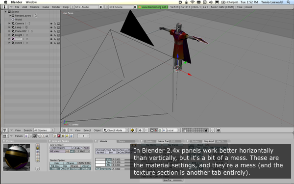 Blender 2.49b in action