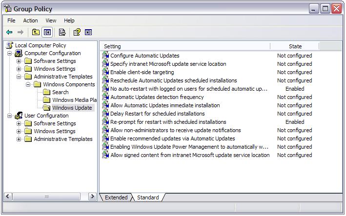 gpedit.msc lets you fix Windows Update