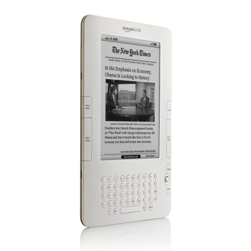 Kindle 2. It's definitely less horribly ugly than the first version -- but which would you rather have, gorgeous color touchscreen or lame plastic keypad?