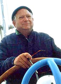 Jack Vance image (found on Wikipedia) -- Vance has loved boats and travel his entire life
