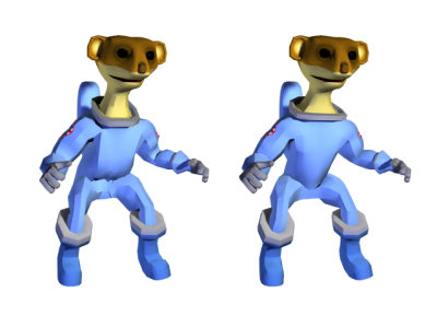 I rigged the figure on the left by using C3d's old auto-weight and then spent hours tidying up by painting weights. The one on the right was heat-skinned in a few seconds by clicking a button.