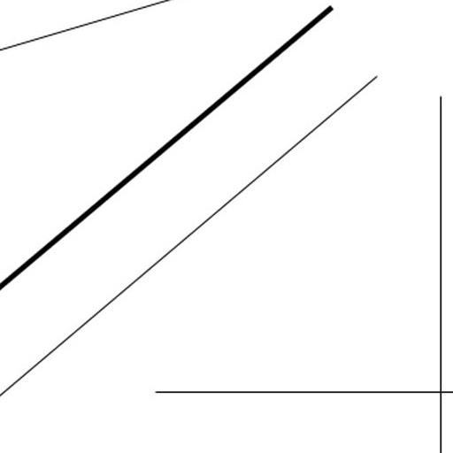Same lines at 150% (bicubic) -- cropped slightly