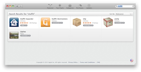 Stuffit Expander (and some parasites) in the App Store