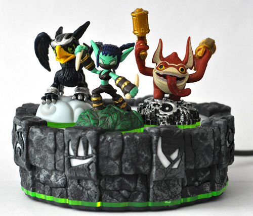 Skylanders — Sonic Boom, Stealth Elf, and Trigger Happy