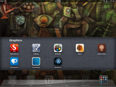 iOS Apps for Sketching Ideas — the top five apps shown are the ones I'll discuss below.