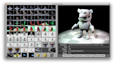 C3D Buddy 2.0 in action — built in an evening using node-webkit