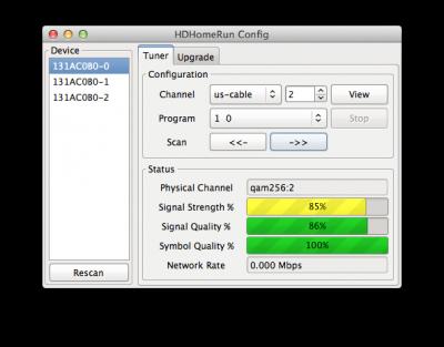 The HD Homerun's software is minimalist and borderline useless