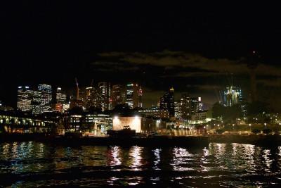 Sydney Harbor by night — processed using Photos
