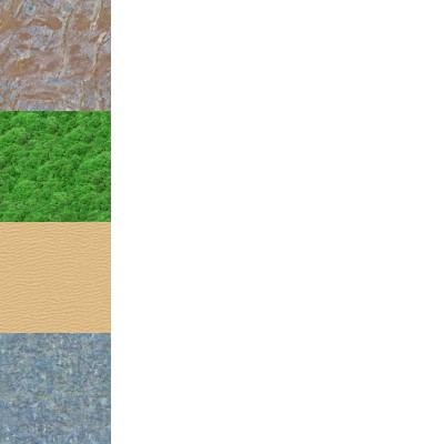A single texture that contains multiple tiling textures.