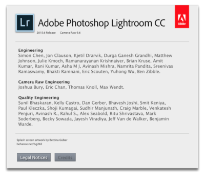 "Hilarious. Lightroom's ""About Box"" uses utterly non-standard buttons that behave like tab selectors."