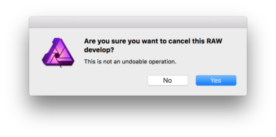 When you find the Cancel button (at the top left, kind of) you then get this terrible dialog.