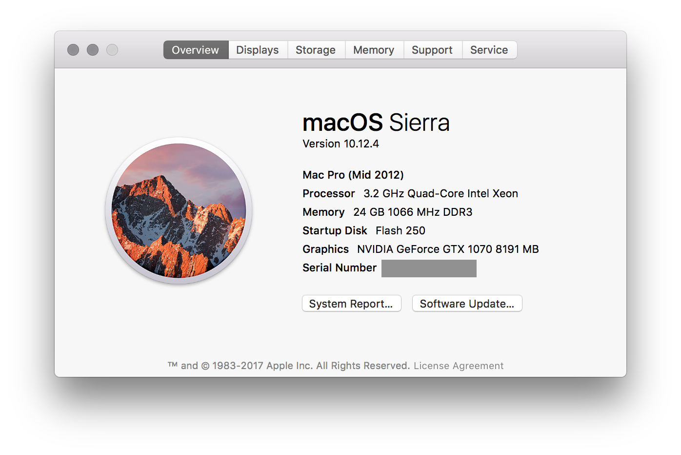 Getting an Nvidia 1070 (or similar) GPU working on a Mac Pro