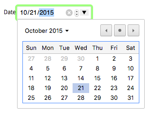 Chrome's date picker