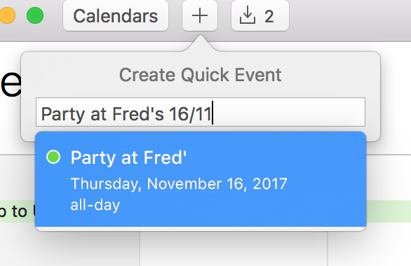 Mac OS X Calendar